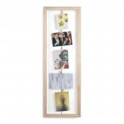 Рамка за снимки UMBRA CLOTHESLINE FLIP - цвят натурално дърво