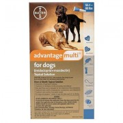 Advantage Multi for Extra Large Dogs 55.1-88 lbs (Blue) - 3 Doses