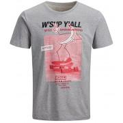 Jack&Jones Tricou pentru bărbați Tee SS Crew Neck Light Grey Melange Slim L