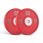Capital Sports Performan Urethane Plates viktplattor par 25kg röd