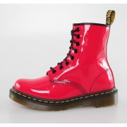 chaussures DR. MARTENS - 8 trous - 1460 - W RED ROUGE BREVETS Lamper