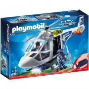 Playmobil city action elicottero della polizia con luce di avvistamento
