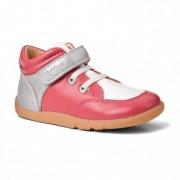 Bobux Rózsaszín-fehér magasszárú tépőzáras kiscipő - 27 (3-4 éves)