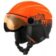 RELAX TWISTER VISOR Lyžařská helma RH27D černo oranžová XS