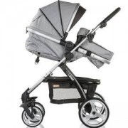 Детска количка с трансформиращ се кош Chipolino Up and Down, сива перла, 3500044