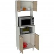 Mueble de Cocina TuHome Kitchen 54 Fenix - Blanco/Rovere