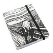 Edvard Munch Notebook ,L'Urlo , bianco e nero