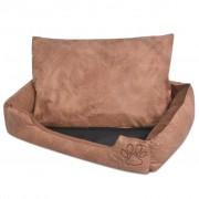Sonata Кучешко легло с възглавница, PU изкуствена кожа, р-р L, бежово