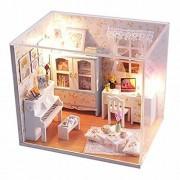 Wind New Dollhouse Miniature DIY Dream House Kit Cute Room With Furnitiure for Artwork Gift Hemiola's Room