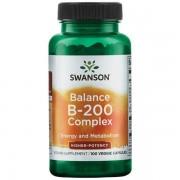Swanson Balance B-200 Vitamín B Complex 100 kapslí