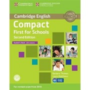 Compact First for Schools Student's Book with Answers [With CDROM], Paperback/Barbara Thomas