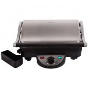 Gratar Electric Daewoo DG70 1800 W placi antiaderente 26x23 cm ajustare inaltime gatire termostat tavita colectare grasime Inox