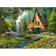 Puzzle Castorland - Toadstool Cottage, 2000 Piese