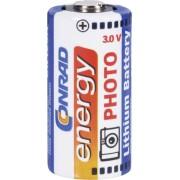 Baterie foto litiu CR-123A, 3 V, 1400 mAh, Conrad energy