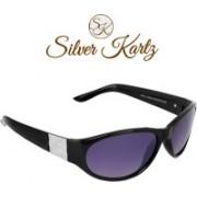 Silver Kartz Wayfarer, Rectangular Sunglasses(Black, Violet)