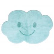 Alfombra infantil en algodón azul 75x115 cm NIMBUS - Miliboo