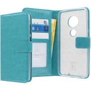 Motorola Moto G7 Plus hoesje - CaseBoutique - Turquoise - Kunstleer