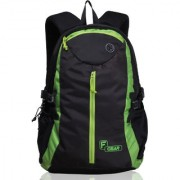 F Gear Slog V2 27 Liters Black Green Backpack(with 17 inch Laptop Compartment)