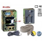 Pearl HD-Wildkamera WK-420 mit Nachtsicht, Bewegungsmelder & Aufnahme-Timer