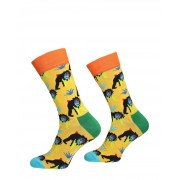 Happy Socks - Monkey Sock - Geel - Size: 41-46