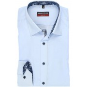 Marvelis Body Fit Hemd bleu, Einfarbig