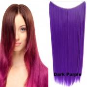 Flip in vlasy - 60 cm dlouhý pás vlasů - odstín Dark Purple - Světové Zboží