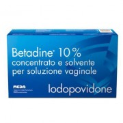 Meda Pharma Spa Betadine 10% Concentrato E Solvente Per Soluzione Vaginale 5 Flaconi 140 Ml + 5 Fialoidi 10 Ml + 5 Cannule