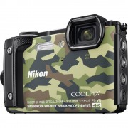 Digitalni fotoaparat Nikon W300 16 MPix Zoom (optički): 5 x Kamuflažna boja WiFi, Vodootporno, 4K-Video, GPS, Otporan na udarce,