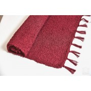 Prekrivač od bucle - efektne predje C bordo - tanje tkanje