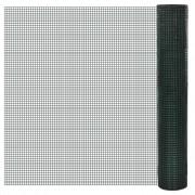 vidaXL Plasă gard cu izolație PVC 1 m x 10 m, ochi 16 mm