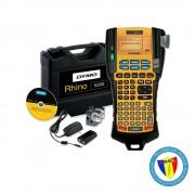 Aparat etichetat industrial Dymo Rhino 5200 kit cu servieta, ABC, 19mm, S0841430, 841430