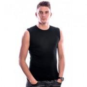 Beeren Bodywear Sleeveless Shirt Round Neck Black ( 3 pack) - Zwart - Size: Medium