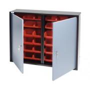 Dulap suspendat Küpper 800x600x190 mm, cu 2 usi si 36 cutii de organizare