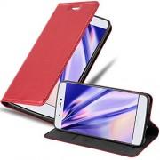 Cadorabo Funda Libro para Xiaomi Mi 5S en Rojo Manzana Cubierta Proteccíon con Cierre Magnético, Tarjetero y Función de Suporte Etui Case Cover Carcasa