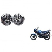 KunjZone Roots Megasonic Chrome Horn Set Of 2 For Honda CB Unicorn