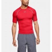 Under Armour Herenshirt UA HeatGear® Armour Compressie met korte mouwen - Mens - Red - Grootte: Small