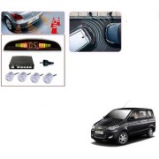 Auto Addict Car Silver Reverse Parking Sensor With LED Display For Chevrolet Enjoy