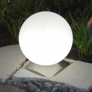 Ideal Snowball Globe Lamp White, Stainless Base 30