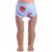 ELECTROPRIME Blue Christmas Underwear for 43cm Zapf Baby Born Dolls Clothes Accessories