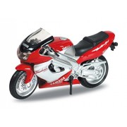Welly 1:18 01 Yamaha Yzf 1000 R Thunderace Diecast Motorcycle Model Collection (Red) (L X W X H),12.5 X 6.5 X 4