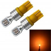 2 Pcs T10 / W5W 40W 800 Lm 6000K Auto Limpieza Luz Luz Luz De Lectura Licencia Con 8 Lamp, DC 12V (luz Amarilla)