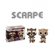 Funko Pop 2pack Rocket And Lylla Marvel Guardians Of The Galaxy Game Verse