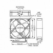 Ventilator Sunon 12V 80x80x25mm 2600 RPM Rulment