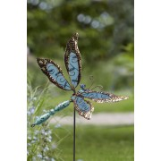 Decoratiune gradina Libelula albastra
