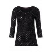 Shirt met folieprint - Black