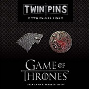 Game of Thrones Twin Pins: Stark and Targaryen Sigils: Two Enamel Pins, Hardcover/Chronicle Books