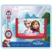 Set cadou ceas digital + portofel Frozen