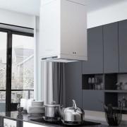 vidaXL Köksfläkt med LCD för köksö 756 m³/tim LED