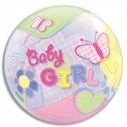 "Balon Bubble 22""/56cm Qualatex, Fluturi Baby Girl, 69729"