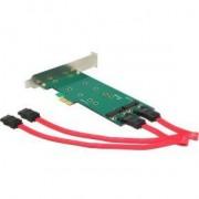 DeLOCK 2x 67-pin M.2 key B - 2x SATA 7-pin Intern SATA interfacekaart/-adapter